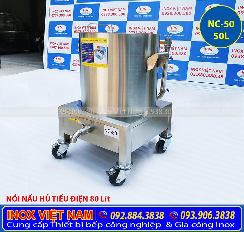 Nồi nấu cháo bằng điện 50L, nồi điện nấu cháo bằng điện loại 50 lít giá tại xưởng IVN.