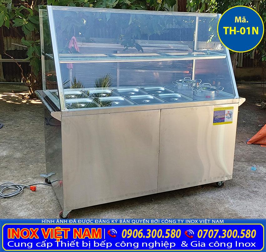 Tủ hâm nóng thức ăn 8 khay + 2 nồi giá bao nhiêu? Hình ảnh Tủ hâm nóng thức ăn 8 khay + 2 nồi của Thiết bị bếp inox công nghiệp ( Ảnh chụp thực tế).