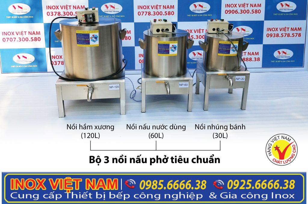 Thiết bị bếp inox công nghiệp - Địa chỉ mua nồi nấu phở bằng điện, nồi nấu hủ tiếu giá tốt nhất tại TPHCM.
