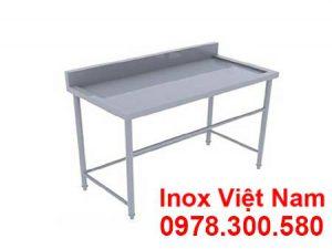 Bàn Inox 1 Tầng Có Gáy BAI-06