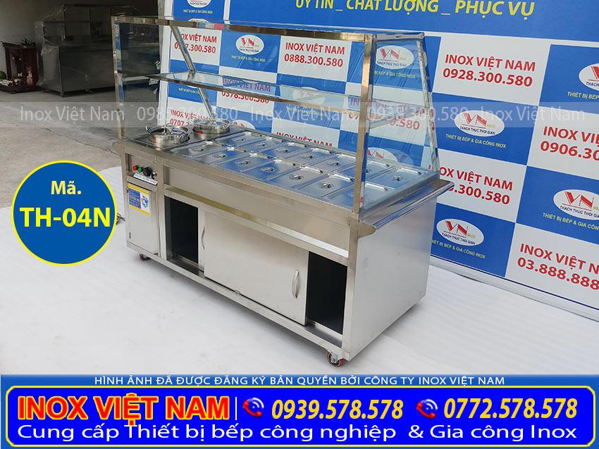 Giá bán tủ hâm nóng thức ăn 14 khay + 2 nồi TH-04N (Ảnh thật tế).