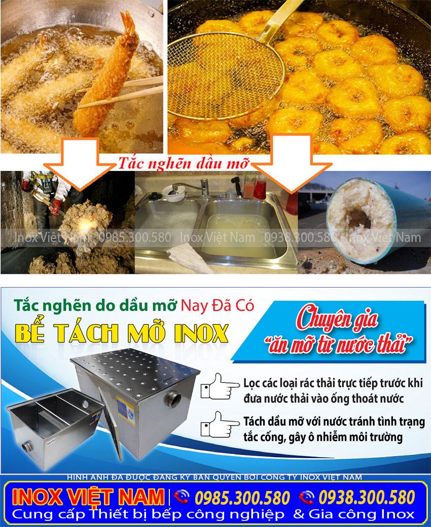 Inox Việt Nam - Chuyên cung cấp các loại bể tách mỡ inox, bẫy mỡ công nghiệp. Hộp tách mỡ gia đình, thùng lọc mỡ nhà hàng. Với nhiều dung tích khác nhau. Kiểu dáng đẹp, chất liệu inox 304 cao cấp, sang trọng. Uy tín chất lượng, với mức giá tốt nhất hiện nay.