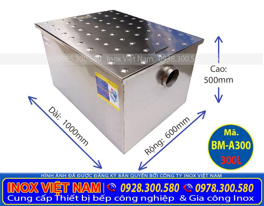 Bể tách mỡ công nghiệp 300L BM-A300   thùng lọc mỡ nhà hàng 300L   thùng tách mỡ công nghiệp.