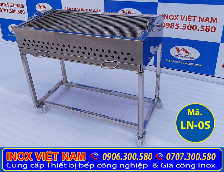 Bếp nướng than inox ngoài trời, Bếp nướng than củi inox, bếp nướng than inox không khói do chính tay INV tự chế tác sản xuất kích thước theo đơn đặt hàng (Ảnh thực tế).