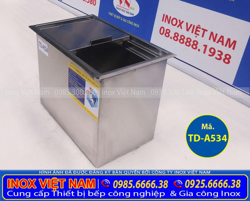 Báo Giá thùng đá inox âm quầy bar TD-A534.