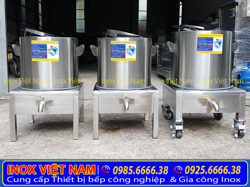 Thiết bị bếp inox công nghiệp - Nồi nấu phở bằng điện, nồi nấu hủ tiếu bằng điện, nồi hầm xương nấu nước lèo chính hãng chất lượng.