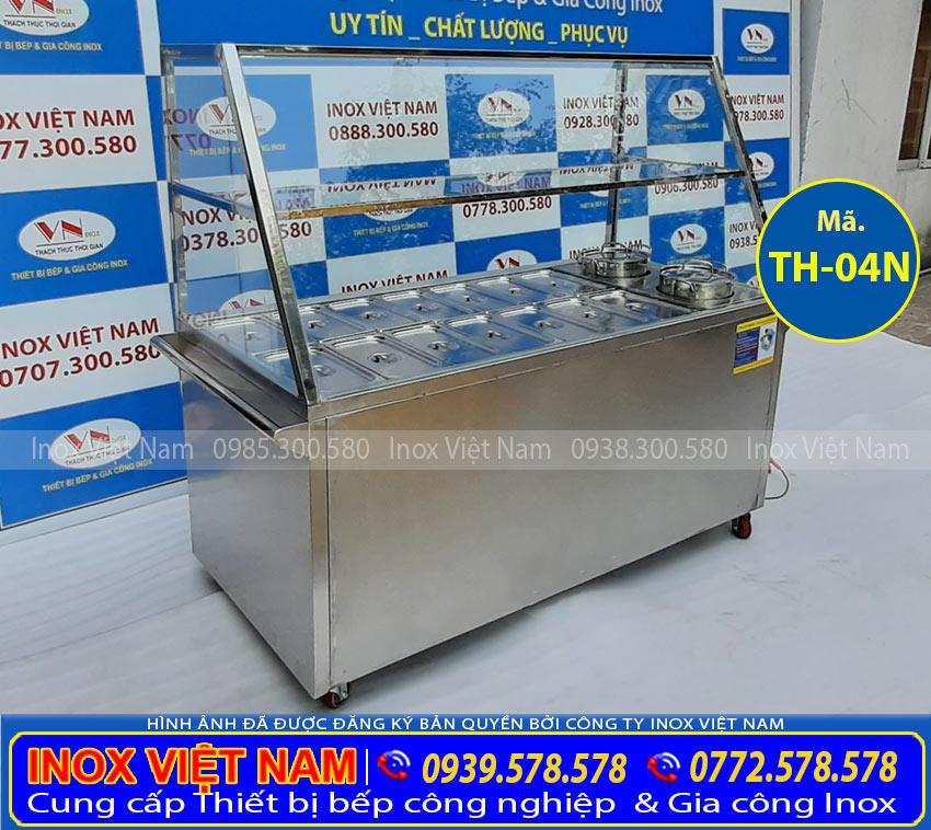 Tủ hâm nóng thức ăn 14 khay + 2 nồi TH-04N (Ảnh thật tế).