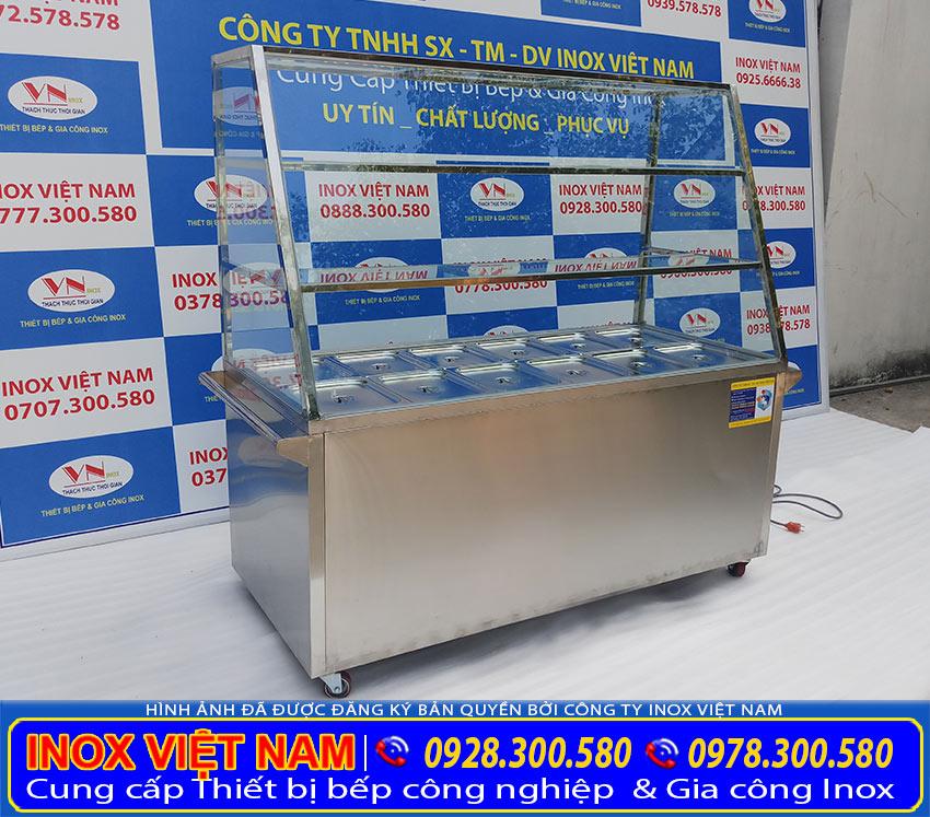 Báo giá tủ hâm nóng thức ăn 12 khay 3 tầng (Ảnh thật tế).