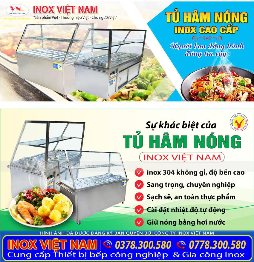Thiết bị bếp inox công nghiệp - Địa chỉ mua tủ hâm nóng thức ăn, tủ giữ nóng thức ăn chất lượng giá tốt.