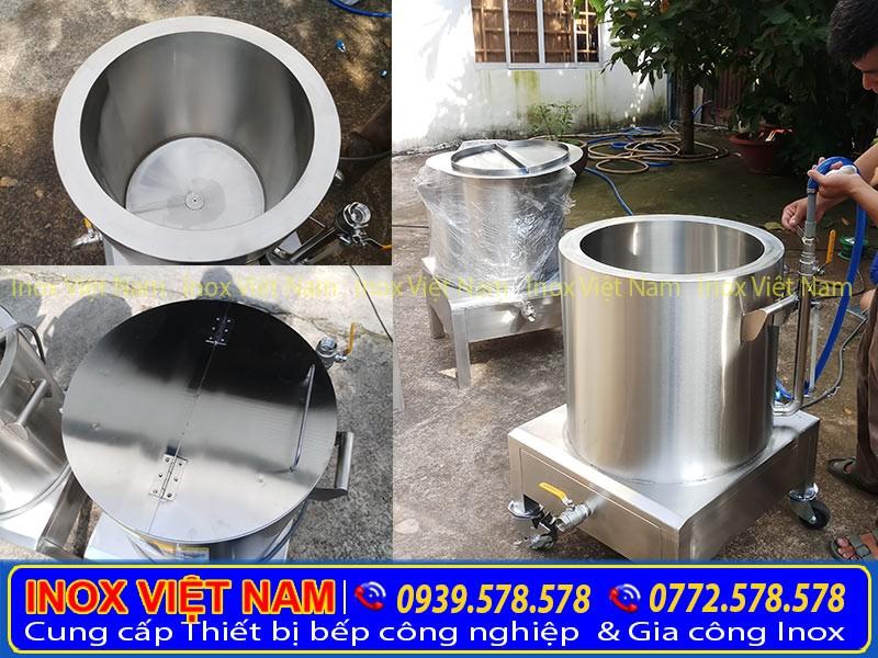 Nồi nấu cháo công nghiệp bằng điện, nồi điện nấu cháo của Thiết bị bếp inox công nghiệp được gia công từ chất liệu inox 304 cao cấp.