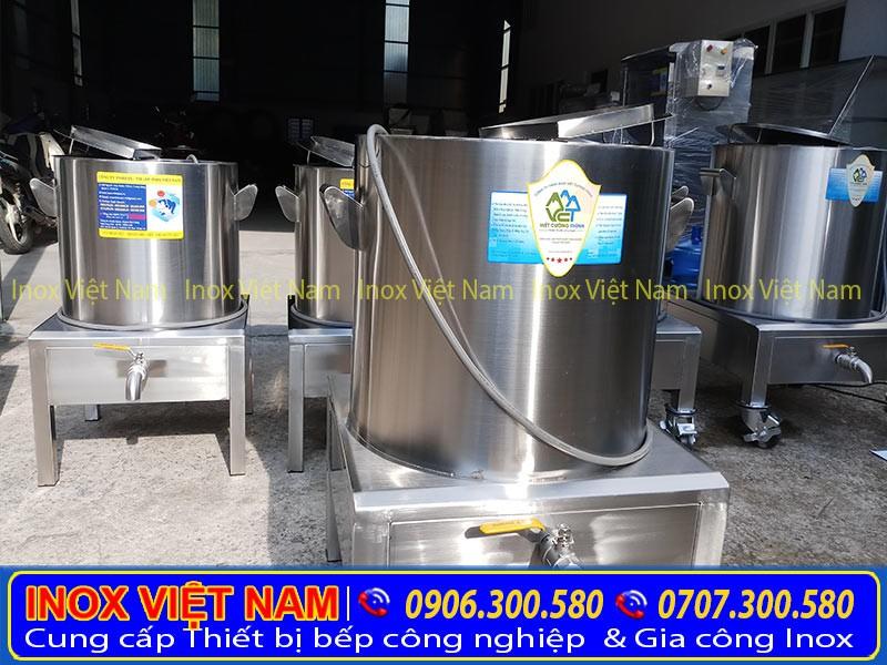 Báo giá nồi nấu cháo công nghiệp, nồi nấu cháo bằng điện chất liệu inox 304 cao cấp.