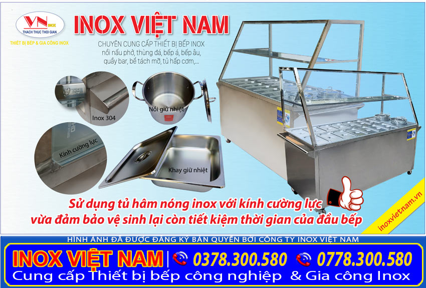 Tủ hâm nóng thức ăn cao cấp chính hãng của thiết bị bếp inox công nghiệp.