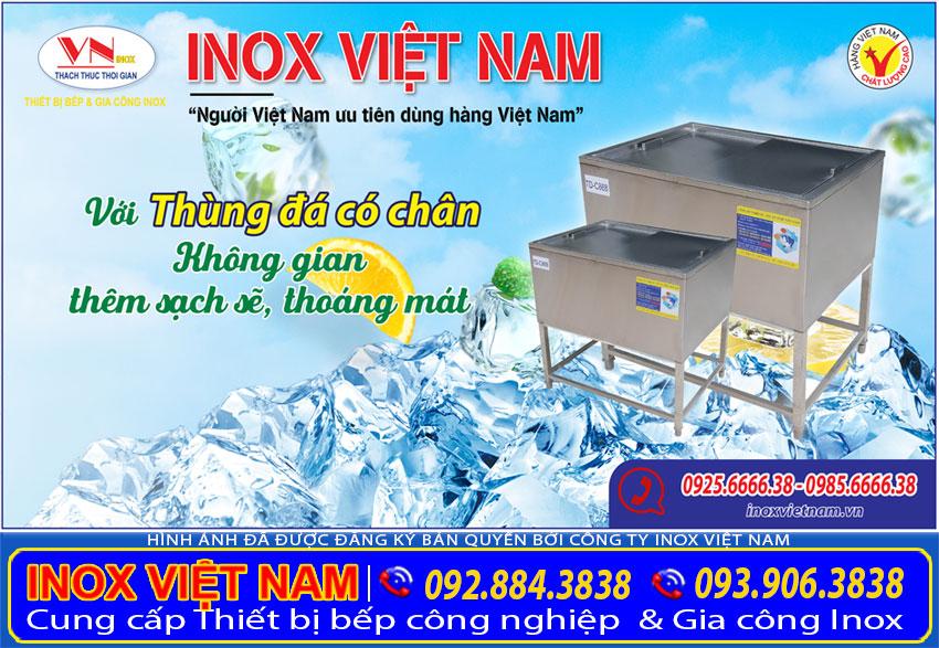 Inox Việt Nam - Địa chỉ mua thùng đá inox, thùng đựng đá inox, tủ đá inox , thùng đá quầy bar, thùng đá inox âm bàn giá tốt tại TPHCM.