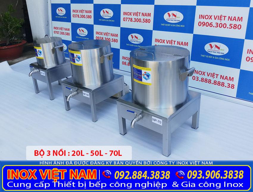 Địa chỉ mua bộ nồi inox nấu phở bằng điện 20L-50L-70L (Ảnh thật tế).
