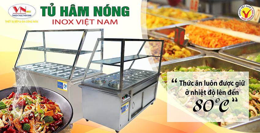 Tủ hâm nóng thức ăn, tủ giữ nóng nóng, quầy làm nóng thực phẩm. Thiết bị bếp inox công nghiệp, thiết bị bếp nhà hàng khách sạn chất lượng, được ưa chuộng nhất hiện nay.