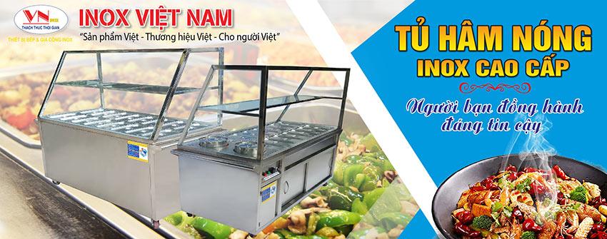 Nhắc đến tủ hâm nóng thức ăn công nghiệp, tủ giữ nóng thức ăn, tủ bán cơm hâm nóng, quầy hâm nóng thức ăn. Nhớ ngay đến Inox Việt Nam.