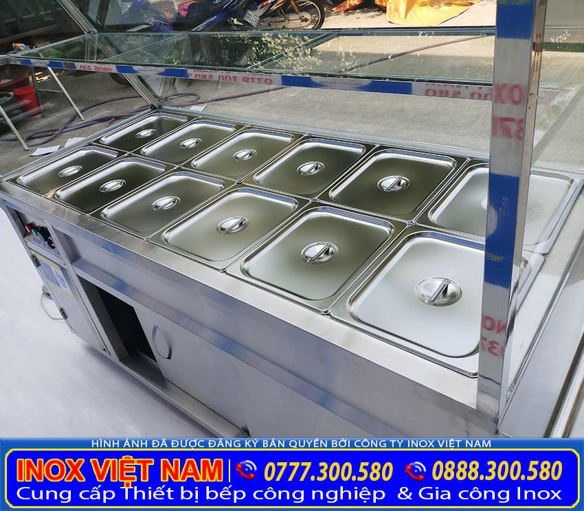 Sản xuất tủ giữ nóng thức ăn, tủ hâm nóng thức ăn. Với kích thước, kiểu dáng theo yêu cầu (Ảnh thật tế).