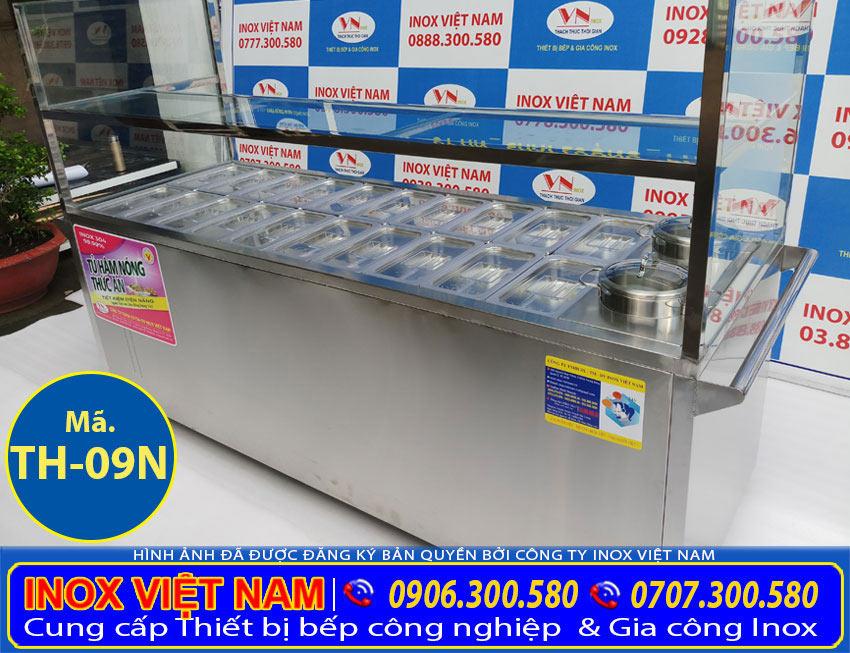 Báo giá giá tủ hâm nóng thức ăn, tủ giữ nóng thức ăn 20 khay 2 nồi (Ảnh thật tế).