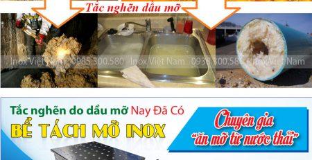 Bẫy mỡ inox, bể tách dầu mỡ 3 ngăn, thiết bị tách mỡ nhà bếp hiệu quả không thể thiếu trong mỗi không gian bếp.