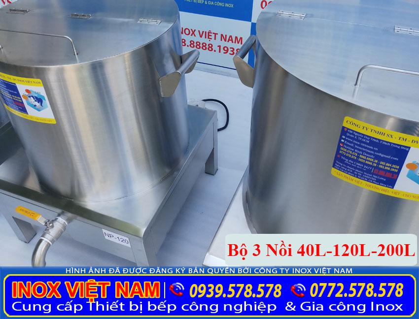 Báo giá bộ nồi nấu phở bằng điện 40L – 120L – 200L (Ảnh thật tế).