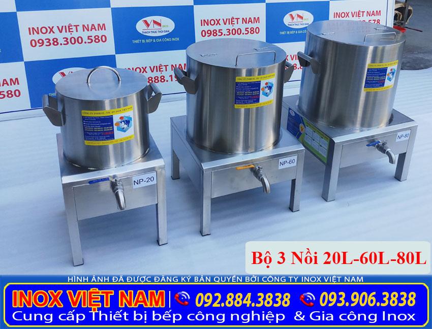 Địa chỉ mua bộ nồi nấu phở bằng điện 20L - 60L - 80L, nồi điện nấu phở giá tốt tại TPHCM (Ảnh thật tế).