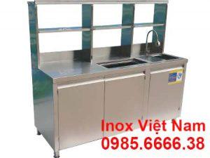 Quầy Pha Chế Trà Sữa Inox QB-11