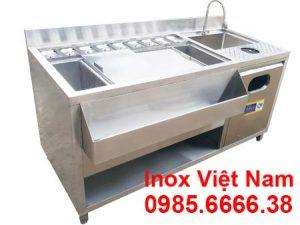 Quầy Bar Inox Trà Sữa 1m6 QB-03