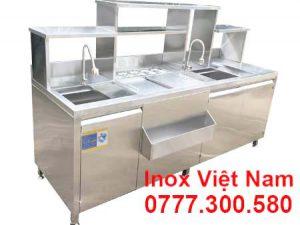 Quầy Pha Chế Cafe Inox QB-07