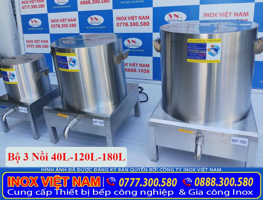 Mua bộ 3 nồi nấu phở bằng điện 40L – 100L – 180L ở đâu tại TPHCM ( Ảnh thật tế).