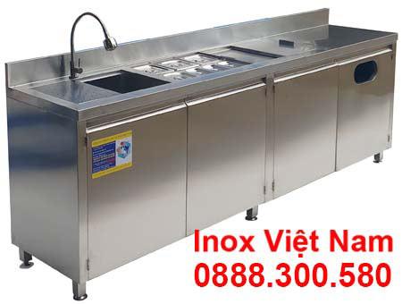 Quầy Bar Inox Cafe QB-13