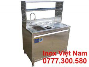 Quầy Bar Inox Mini – Quầy Pha Chế Inox 1m2 QB-05