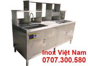 Quầy Pha Chế Cafe Inox 2m QB-04