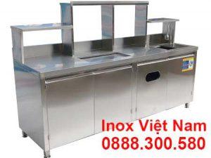 Quầy Bar Trà Sữa Inox QB-12