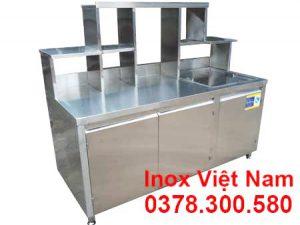 Quầy Pha Chế Trà Sữa Inox QB-02