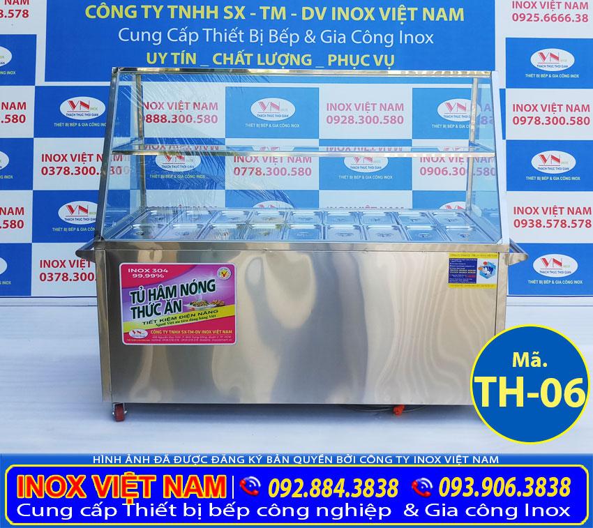 Địa chỉ mua tủ hâm nóng thức ăn, tủ giữ nóng thức ăn công nghiệp 18 khay giá tốt tại TPHCM (Ảnh thật tế).