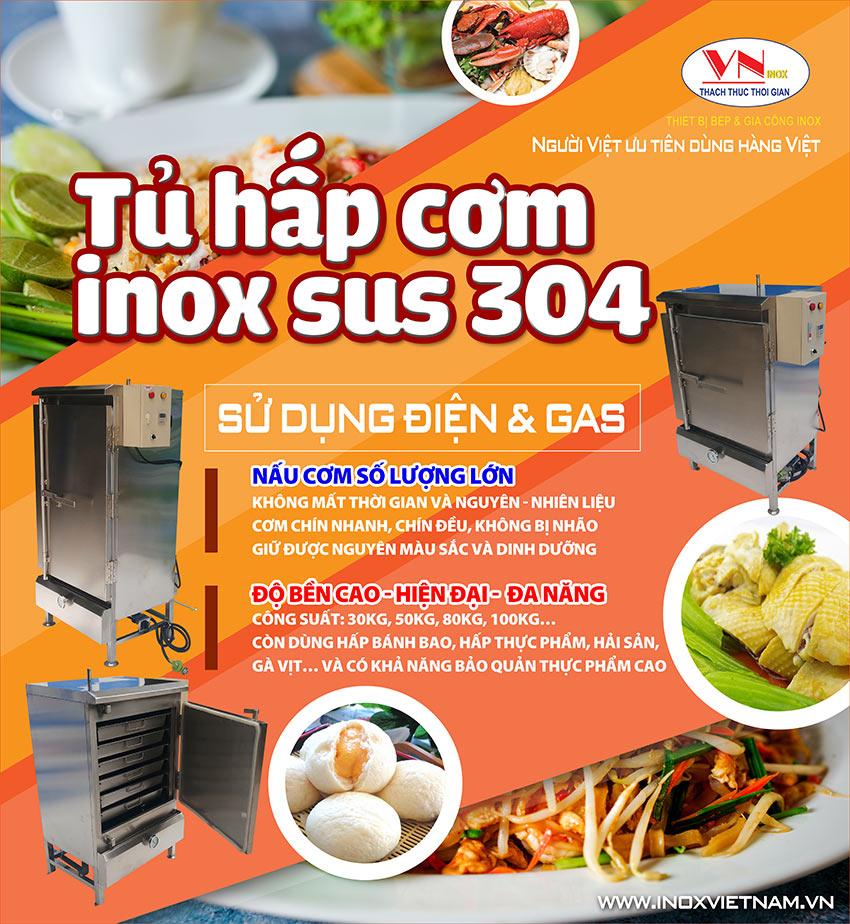 Mua tủ nấu cơm công nghiệp, tủ hấp cơm công nghiệp giá tốt chỉ có tại Thiết bị bếp inox công nghiệp (Ảnh thật tế).