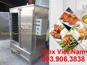 Tủ Nấu Cơm Công Nghiệp Bằng Điện Và Gas 120kg THC-120/GD