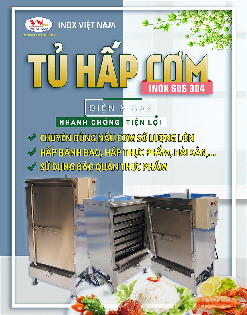 Lựa chọn tủ hấp cơm công nghiệp, tủ nấu cơm công nghiệp bằng điện, nồi nấu cơm công nghiệp bằng gas - Giải pháp hiệu quả dành cho không gian bếp.