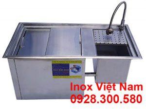 Thùng Đá Kèm Chậu Rửa Inox Âm Quầy Bar QB-17