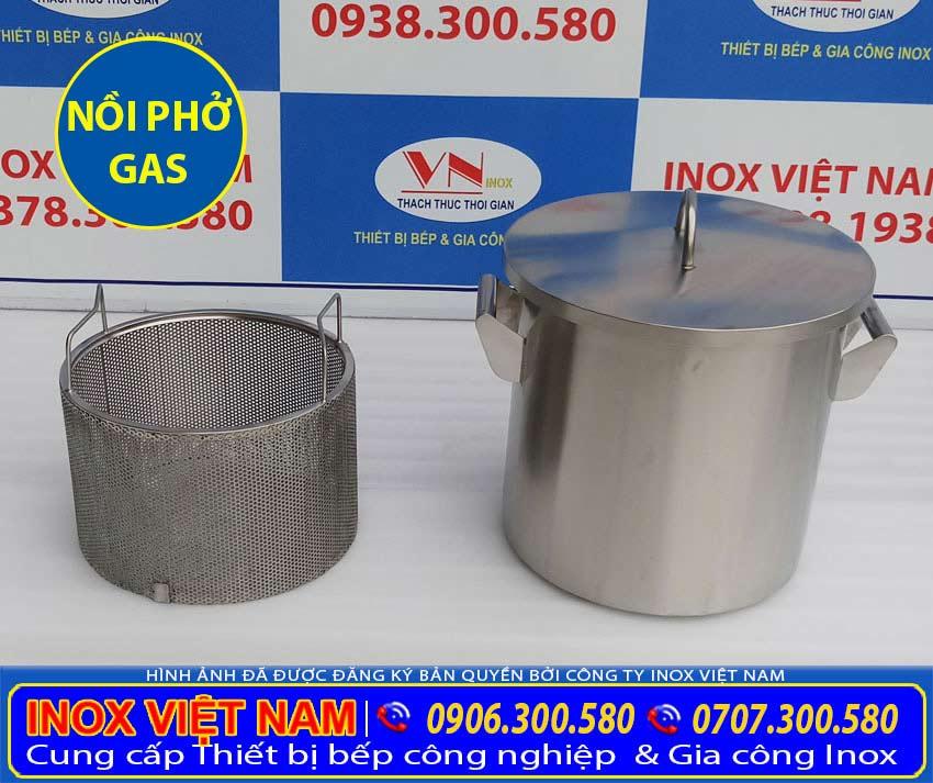 Giỏ đựng xương và nồi hầm xương bằng gas. Được sản xuất từ chất liệu inox 304 cao cấp, bền đẹp, sang trọng.