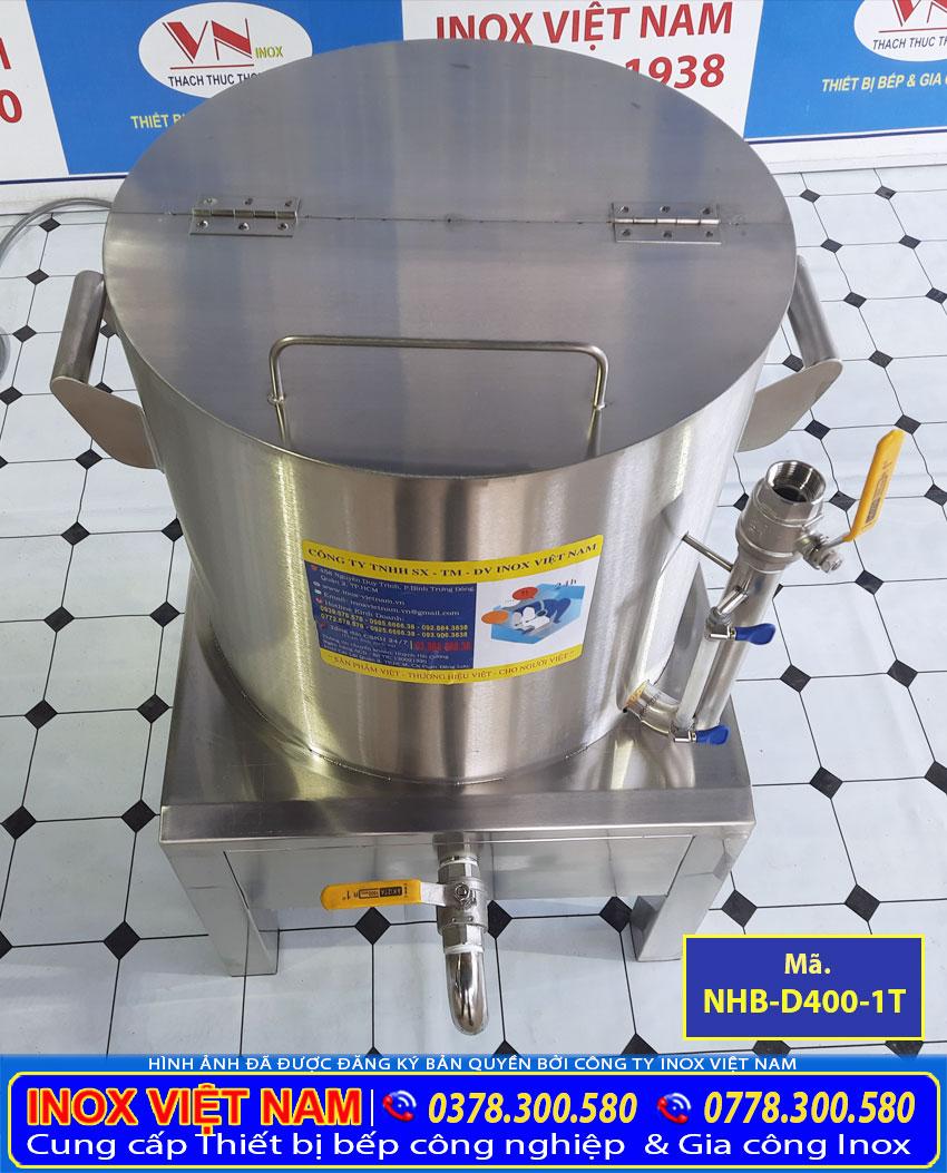 Báo giá nồi nấu bắp công nghiệp, nồi luộc bắp bằng điện, nồi điện hấp bắp ngô công nghiệp 1 tầng NHB-D400-1T.