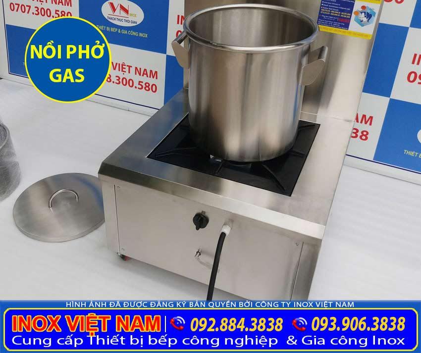 Nồi hầm xương bằng gas, nồi nấu phở dùng gas 50 lít. Được sản xuất bằng inox 304 chất lượng, độ bền. Mẫu mã đẹp sang trọng, dễ dàng vệ sinh.
