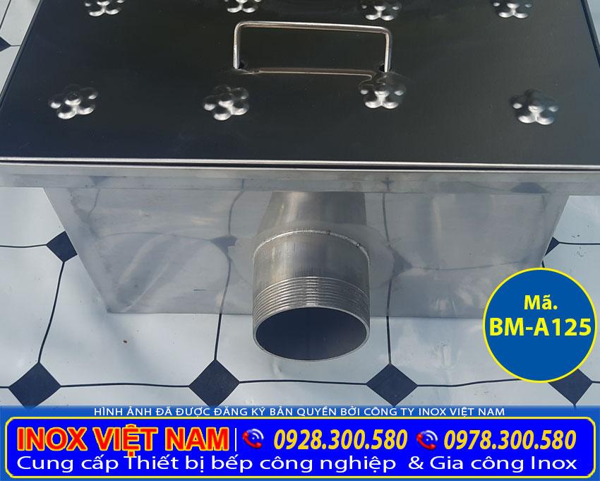 Chi tiết ống xả nước bể tách mỡ âm sàn BM-A125.