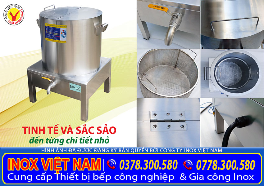Nồi điện nấu phở đến từ thương hiệu Inox Việt Nam. với những ưu điểm nổi bật trong từng thiết kế, chức năng, và cấu tạo của sản phẩm.