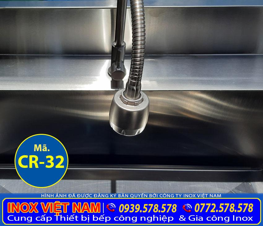 Vòi xả nước chậu rửa inox công nghiệp. Với chất liệu inox 304, cao cấp sang trọng.