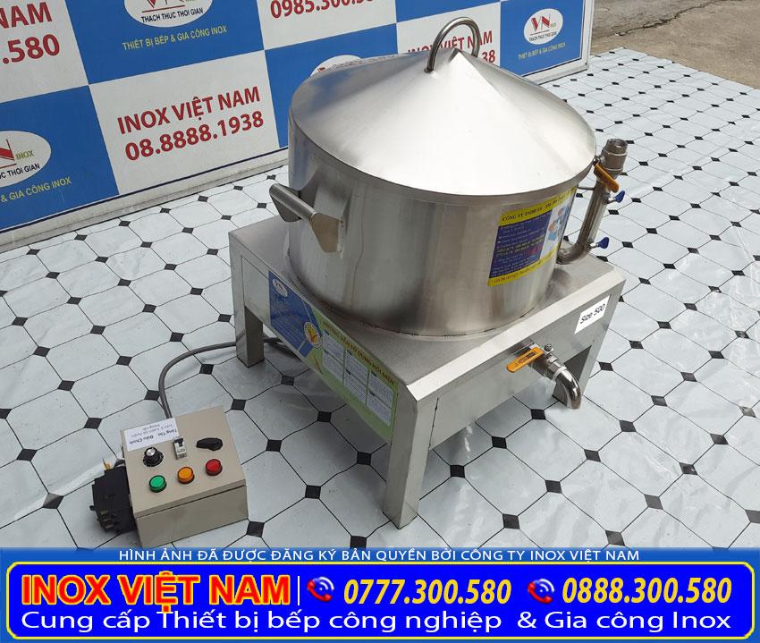 Nồi điện hấp bánh bao với chất liệu inox 304 cao cấp bền đẹp.