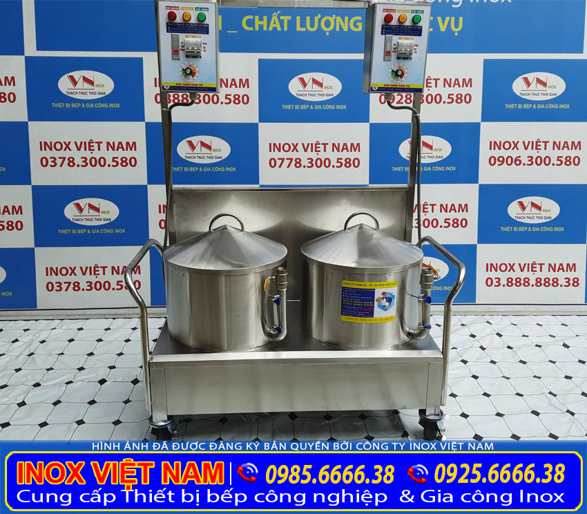 Giá bán bộ nồi điện tráng bánh cuốn tại Inox Việt Nam.