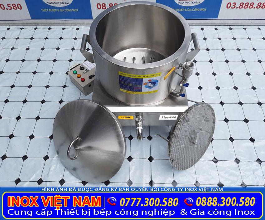 Xửng hấp bánh bao, nồi điện hấp bánh bao công nghiệp. Được gia công từ chất liệu inox 304 cao cấp.