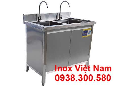 Tủ Inox Có Bồn Rửa Chén Inox 2 Ngăn TUI-15
