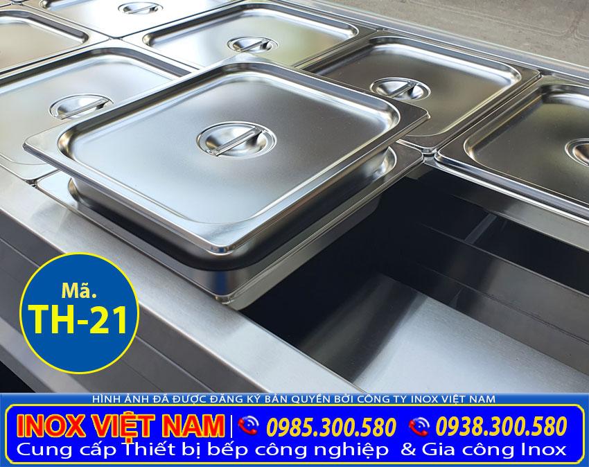 Chi tiết các khay GN tủ hâm nóng thức ăn 18 khay TH-21